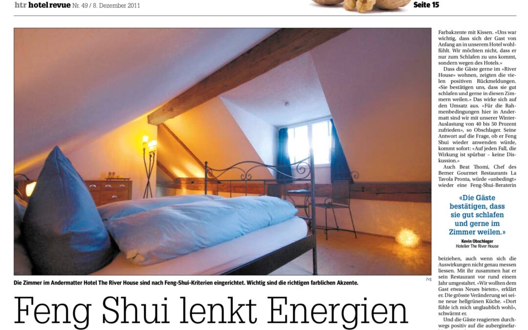 Feng Shui lenkt Energien